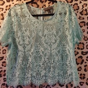 Forever 21 Plus Lace Top 2x
